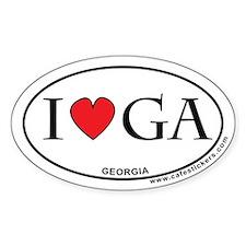 I Love Georgia Decal