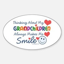 I Love My Grandchildren Sticker (Oval)