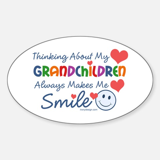 I Love My Grandchildren Sticker (Oval)