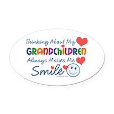 I Love My Grandchildren Oval Car Magnet