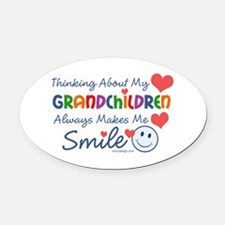I Love My Grandchildren Oval Car Magnet