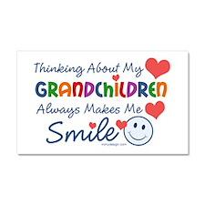 I Love My Grandchildren Car Magnet 20 x 12