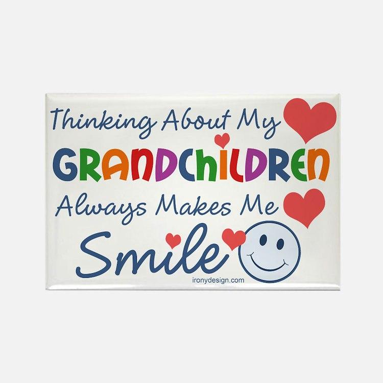 I Love My Grandchildren Rectangle Magnet