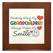 I Love My Grandchildren Framed Tile