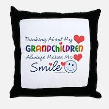 I Love My Grandchildren Throw Pillow