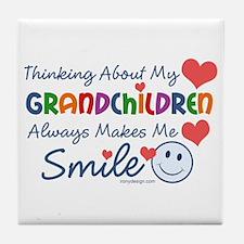 I Love My Grandchildren Tile Coaster