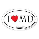 I Love Maryland Sticker