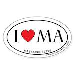 I Love Massachusetts Sticker