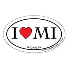 I Love Michigan Decal