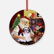 Santa's Shih Tzu Ornament (Round)