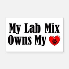 Heart Owning Lab Mix Rectangle Car Magnet