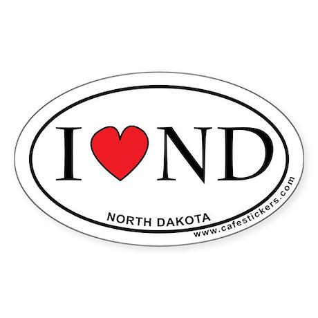 I Love North Dakota Sticker