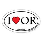I Love Oregon Sticker