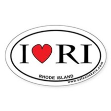 I Love Rhode Island Decal