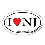I Love New Jersey Sticker