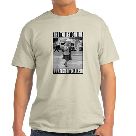 Toilet Flyer Grey T-Shirt