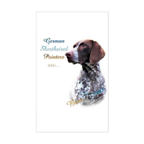 German Shorthaired Best Friend Sticker (Rectangula