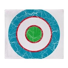 Uzbekistan Roundel Throw Blanket
