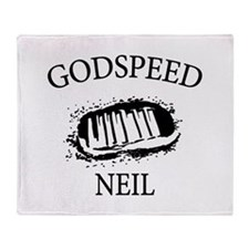 Godspeed Neil Armstrong Tribute Throw Blanket