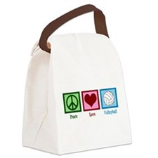 Peace Love Volleyball Canvas Lunch Bag
