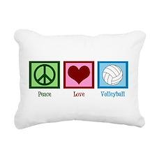 Peace Love Volleyball Rectangular Canvas Pillow