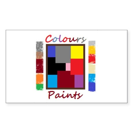 colours and paints by vincent Sticker (Rectangle)