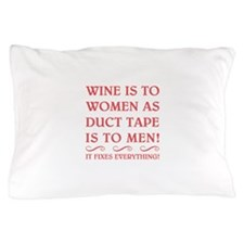 WINE IS FUSCHIA.png Pillow Case