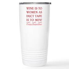WINE IS FUSCHIA.png Travel Mug