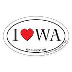 I Love Washington Sticker