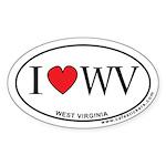 I Love West Virginia Sticker