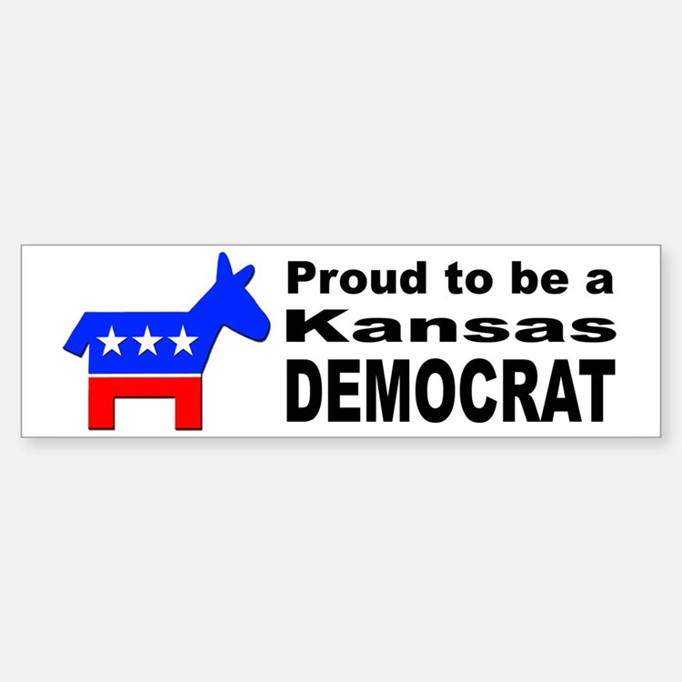 Kansas Democrat Pride Car Car Sticker