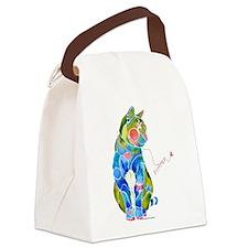 SummerKittyCafe.png Canvas Lunch Bag