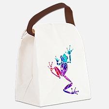 WakanaFrogPurpleBlue.png Canvas Lunch Bag