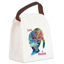Manatees of Many Colors Canvas Lunch Bag