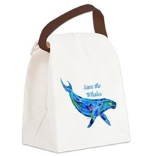 SaveWhaleHumpback.png Canvas Lunch Bag