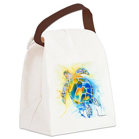 2-SeaTurtle3CafeZ.png Canvas Lunch Bag