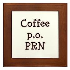 Coffee PO PRN Framed Tile