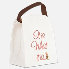 ItisWhatitisPeach.png Canvas Lunch Bag