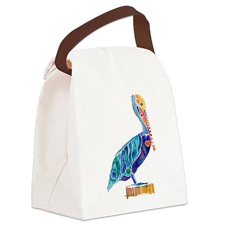 Pelican4Cafe.jpg Canvas Lunch Bag