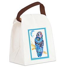 OwlwBorderZ1.png Canvas Lunch Bag