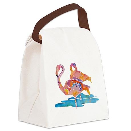 FlamingoBaseC.jpg Canvas Lunch Bag