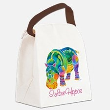 ILOVEHippos-11.png Canvas Lunch Bag