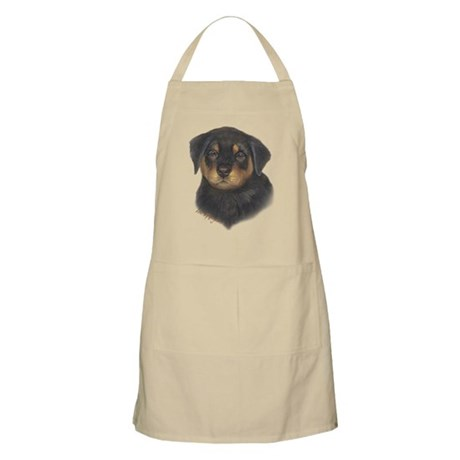 adorable Rottweiler puppy Apron