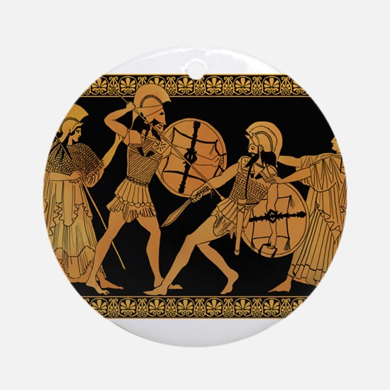 Achilles Slaying Hector Ornament (Round)