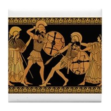 Achilles Slaying Hector Tile Coaster