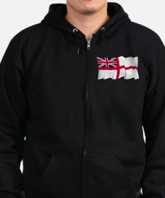 Royal Navy Poster Zipped Hoodie