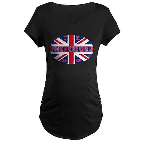 Union Jack AF Day Maternity Dark T-Shirt