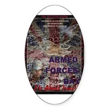UK Armed Forces Day Oval Decal