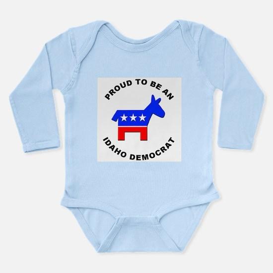 Idaho Democrat Pride Long Sleeve Infant Bodysuit