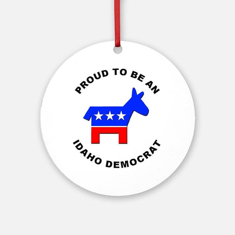 Idaho Democrat Pride Ornament (Round)